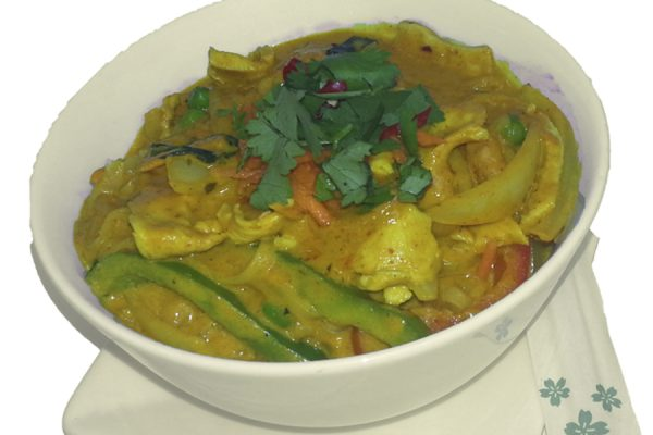 Golden Curry Noodles
